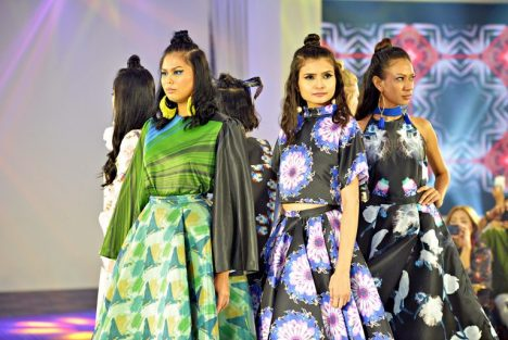 Happy Andrada Showcased Breakthrough Fashion Technology with Customized Printed Fabrics at Transcendence Fashion Show